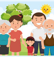 family members on park characters vector image vector image