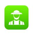 farmer icon digital green vector image