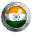 flag icon design for india vector image vector image