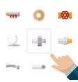 flat icon industry set of pump valve pipework vector image vector image