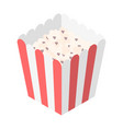 flat isometric popcorn red pack cinema food vector image