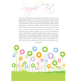 floral text template vector image vector image