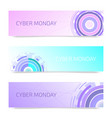 futuristic circles set of banners vector image