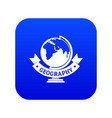 geography icon blue vector image vector image