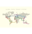 global rapid transit system vector image vector image