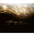 Gold Elegant Background with Text Space vector image