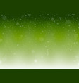 green winter background with falling snowflak vector image vector image