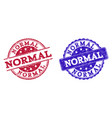 grunge scratched normal seal stamps vector image