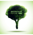 Hand Drawn Watercolor Grunge Tree vector image