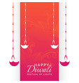 happy diwali holiday festival background with vector image vector image