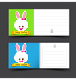 Happy easter tag banner blank template vector image