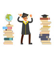 happy graduate characters vector image