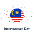 independence day of malaysia patriotic banner vector image vector image
