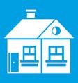 large single-storey house icon white vector image vector image