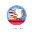 literature subject studies themed concept logo vector image