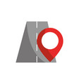 location in road pointer gps map and navigation vector image