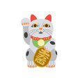 lucky cat symbol fortune in china or japan flat vector image vector image