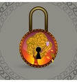 Magic decorative lock vector image vector image