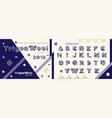 memphis style decorative alphabet typeface pop vector image vector image