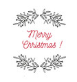merry christmas emblem symbol frame vector image vector image