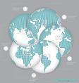 Modern Design Layout Modern Dotted Globes vector image vector image