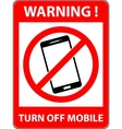 No phone telephone prohibited symbol vector image