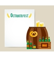 Oktoberfest celebration background poster vector image