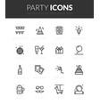 outline black icons set vector image vector image