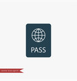 passport icon simple vector image vector image