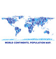 people world continent map vector image