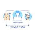 plastic surgery concept icon vector image vector image