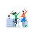 project success celebrate in office vector image vector image