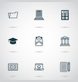 school icons set with file folder calculator vector image
