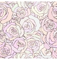 Seamless pattern with beautiful roses in soft vector image vector image