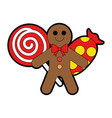 set candies sweet christmas vector image