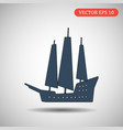 ship icon isolated on background vector image