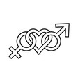 sign symbol love for man and woman gender icons vector image