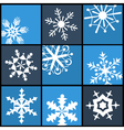 Snowflake Flat Icons for Web and Mobile vector image vector image