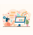 social media marketing business advertising concep vector image