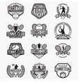 tennis club logo badge vector image vector image