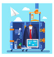 travel business trip concept businessman holding vector image