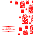 valentine gift red vector image vector image