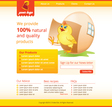 web template with chicken vector image