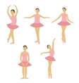 Young little ballerina dancing set vector image