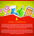 merry christmas greeting template vector image