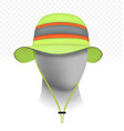 unisex reflective sun hat isolated on transparent vector image