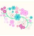 element of flower curl vector image