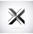 logo for letter X Design template vector image