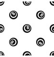 black and white snooker eight pool pattern vector image vector image