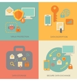 Business data protection technology and cloud vector image